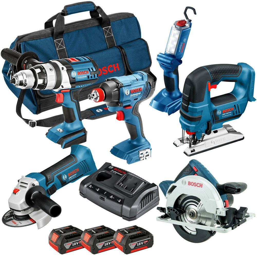 18v 6 Pce li-ion Cordless Kit 6-Tool Package ( 3 x 4Ah Batteries )
