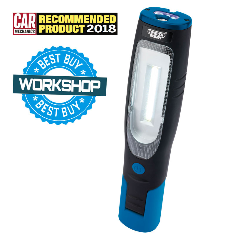 Expert 4W COB LED and UV LED Rechargeable Magnetic Inspection Lamp (Blue)