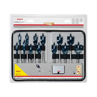 Bosch 2 608 587 010 Bosch Self Cut Speed Spade Drill Bit Set 13 Piece