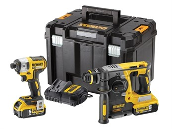 DEWALT DCK2532P2 XR Brushless Twin Pack 18V 2 x 5.0Ah Li-ion