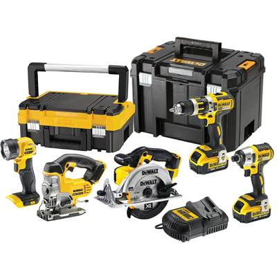 DEWALT DCK550M3T 18v XR Brushless 5 Piece Cordless Kit 3 x 4.0Ah in T-Stak Cases