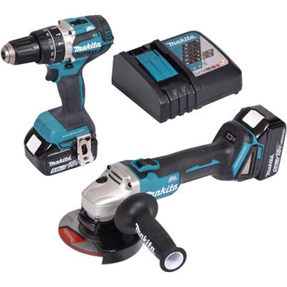 Makita DLX2210TJ1 18V 2PC COMBO KIT LXT