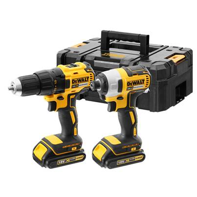 DEWALT DCK2059D2T-GB 18V 2x2Ah XR Li-ion Brushless Combi/Impact Twin Kit