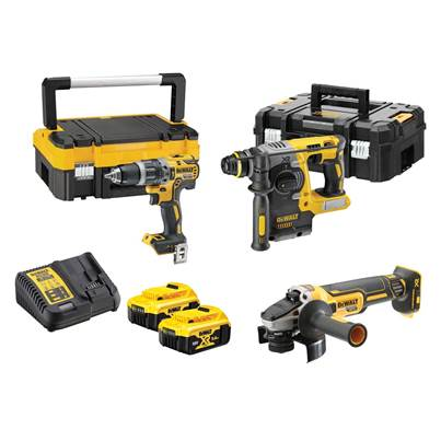 DEWALT DCK306P2T 18v SDS Plus Drill/Combi/Grinder 3pc Kit 2 x 5ah Li-ion Batts