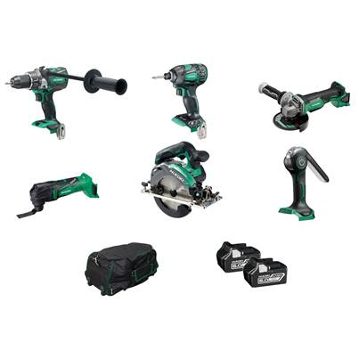 HiKOKI KTL618BL2Z 6 Piece Kit Brushless