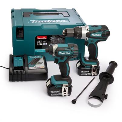 Makita LXT 18V Cordless Hammer Drill & Impact Driver Twin Pack 2 X 5.0Ah Li-Ion Batteries