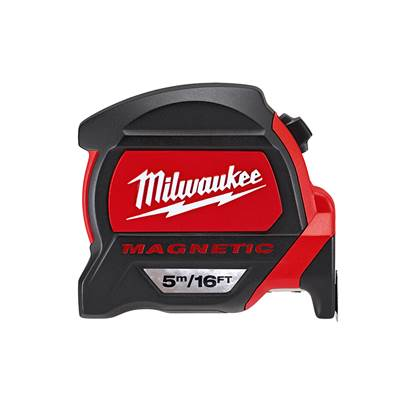Milwaukee Premium Magnetic Tape Measure 5m/16ft (Width 27mm)