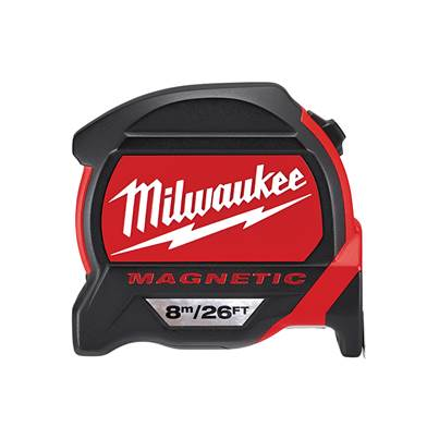 Milwaukee Premium Magnetic Tape Measure 8m/26ft (Width 27mm)
