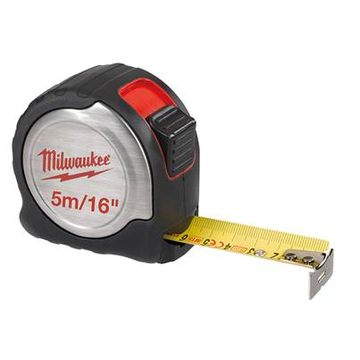 Milwaukee C5-16/25 Silver Compact Line Tape Measure 5m/16ft (Width 25mm)