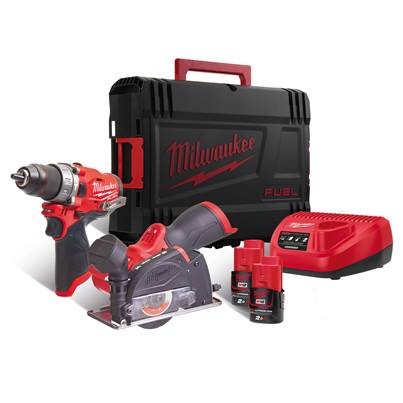 Milwaukee Power Tools M12FPP2F-202X 12v Fuel Combi/Cut-off Saw 2 x 2ah Batteries