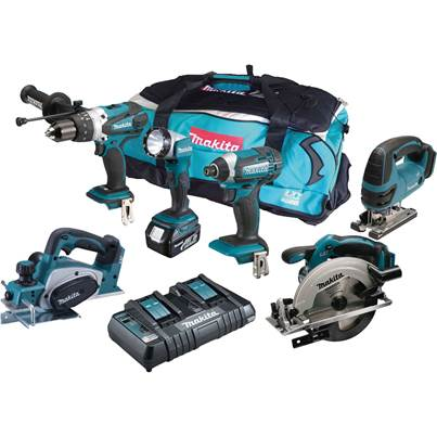 Makita DLX6067PT 18V 6PC COMBO KIT LXT 3 x 5ah