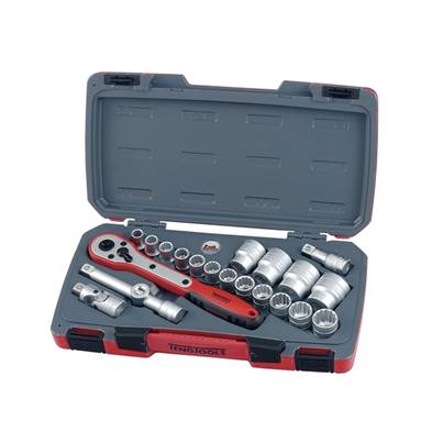 Teng T1221 Metric Socket Set 21 piece 1/2in Drive