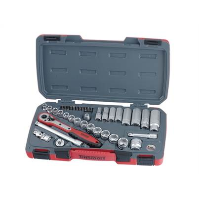 Teng T3839 Socket Set 39 Piece Metric 3/8in Drive