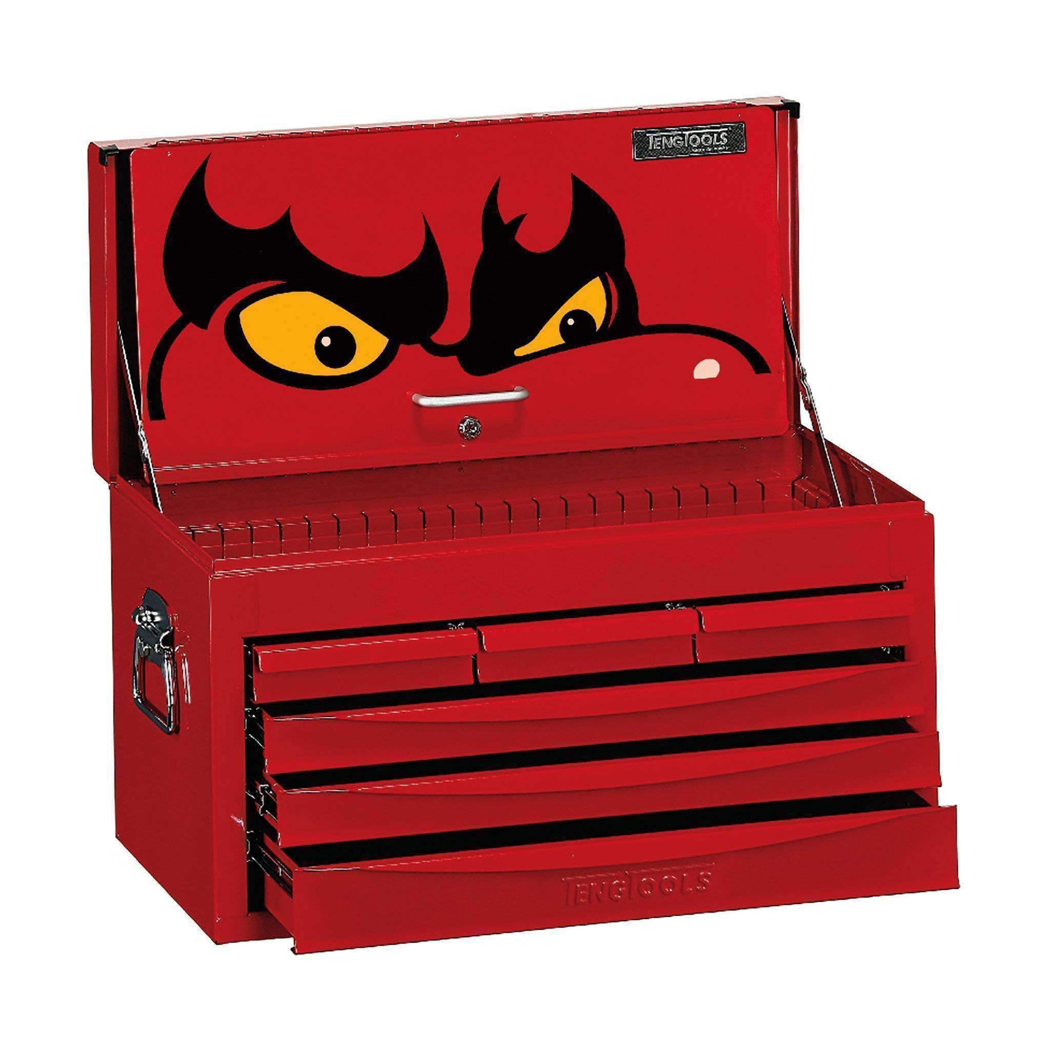 TC806SV 6 Drawer 8 Series Red Top Box with Ball Bearing Slides