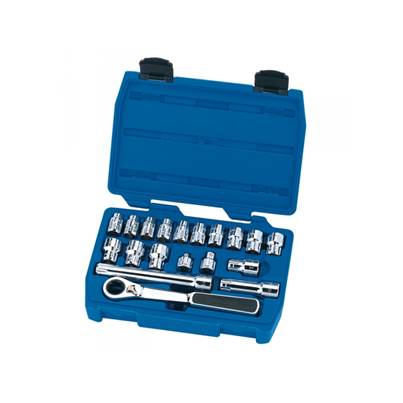 Draper Expert 19 Piece 20mm Metric Vortex Socket Set 1/4 and 3/8 Drive