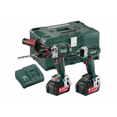 Metabo COMBO SET 2.1.5 18 V LTX CORDLESS COMBO SET With 5.2AH BATTERIES