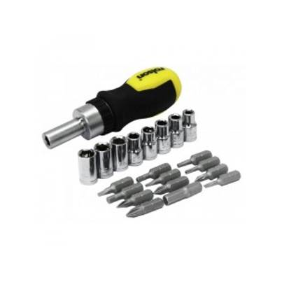 Rolson 21pc Stubby Ratchet Screwdriver