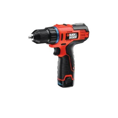 Black & Decker HPL106KB 10.8V High Performance Ultra Compact 2 Gear Drill Driver (2x 1.3Ah Li-Ion)