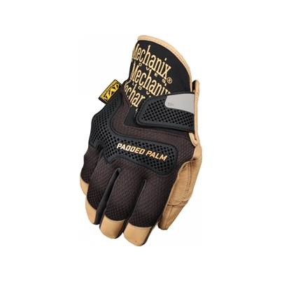 Mechanix CG Padded Palm Gloves -  Black and Tan