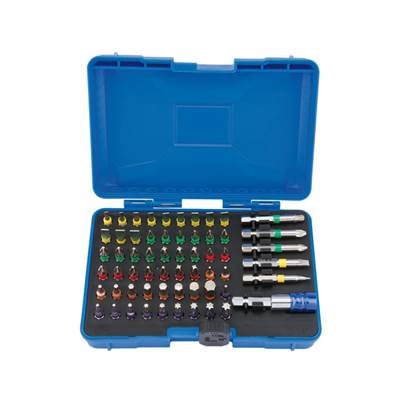 Draper 82405 Coloured Screwdriver Bit Set With Magnetic Holder (60 piece)