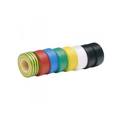 Draper Expert 68157 8 x 10M x 19mm Mixed Colours Insulation Tape to BSEN60454/Type2