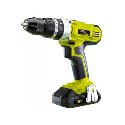 Draper 16167 Cordless Hammer Drill with Two 18V 1.5Ah Li-ion Battery