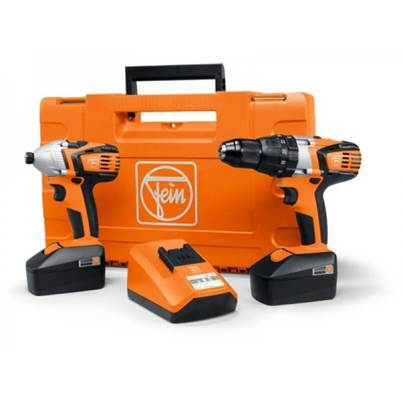 Fein ASB18 Combi Drill and ASCD W4 Impact Driver Twin Pack