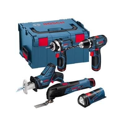 Bosch Professional 12V 5 Piece Monster Tool Kit With 3 Batteries In LBOXX