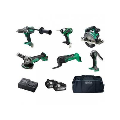 Hitachi KTL618BL 18V Brushless 6 Piece Kit With 2 X 6.0AH Li-ion Batteries