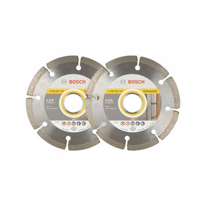 Bosch 115mm Universal Diamond Cutting Discs Twin Pack