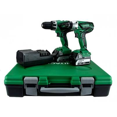 Hitachi KC18DGL/JE 18V 2x5.0Ah Combi Drill Impact Driver Twin Kit