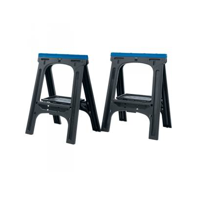 Draper 07227 760 x 570mm Pair of Fold-Down Trestles/Saw Horses