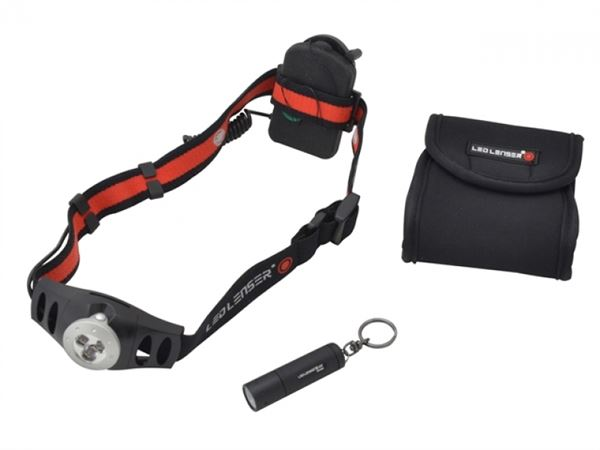 LED Lenser LL1025 Twin Pack With H3 Head Torch & K2 Key Light