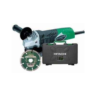Hitachi G12SR3 115mm Mini Angle Grinder With Case and Diamond Blade