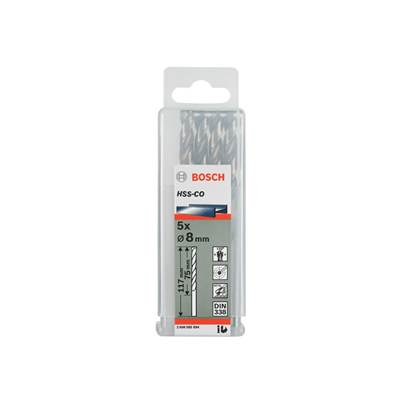 Bosch 1.0mm Metal Drill Bits HSS-G Pack of 10