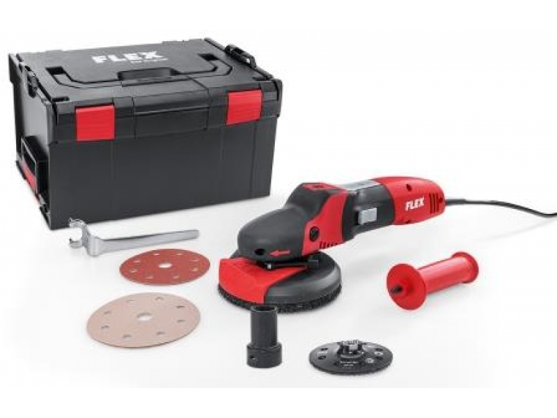 Flex SUPRAFLEX SE 14-2 125 Set, the sanding specialist for metal, stone, painted surfaces, wood - 240v only