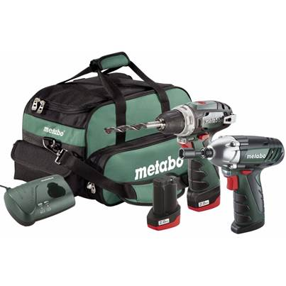 Metabo 10.8v Combo Set 2.3 PowerMaxx BS and PowerMaxx SSD in Bag 2 x 2.0ah