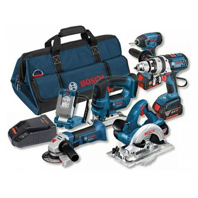 Bosch 18v 6 Pce li-ion Cordless Kit 6-Tool Package ( 3 x 4Ah Batteries )