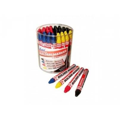 Markal Universal Builders Marker Pen - Red, Yellow, Blue, Black (Pack of 4)