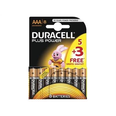 Duracell AAA Batteries Pack of 8