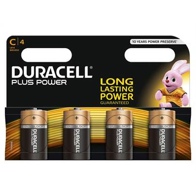 Duracell C Batteries Pack of 4