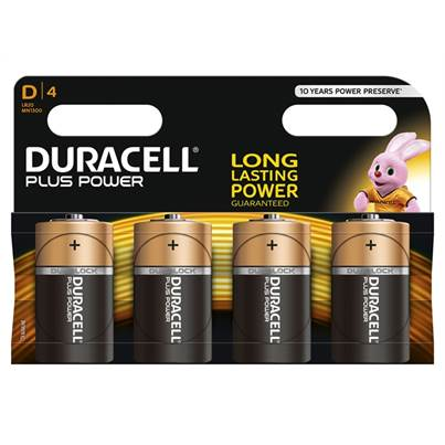 Duracell Duracell D Batteries Pack of 4