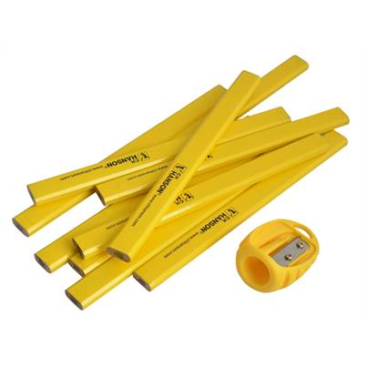 Hanson 10 Pack Pencils & Sharpener