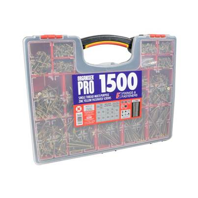 Forgefix Screw Assortment Case 1500 Piece