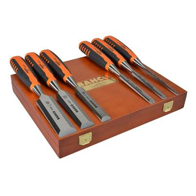 Bahco 424 Bevel Edge Chisel Set in Wooden Case 6 Piece