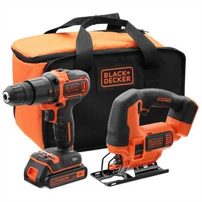 Black & Decker BCK22S1S-GB 18V Hammer & Jigsaw Twin Pack