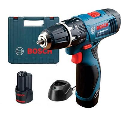 Bosch GSB 120-LI Combi Drill 2 x Batteries + Case