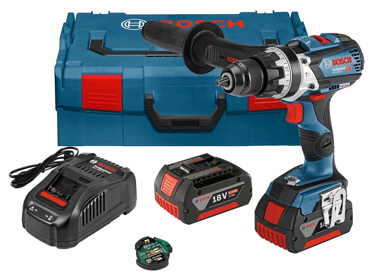 Bosch GSB18V-85C Combi Drill With 2 x 5Ah Li Ion Batterys And Charger