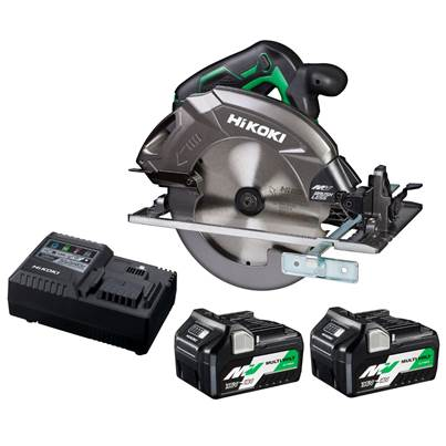 HiKOKI C3607DA 36V Multi Volt Circular Saw with Brushless Motor - 2 x 36v 5Ah batteries