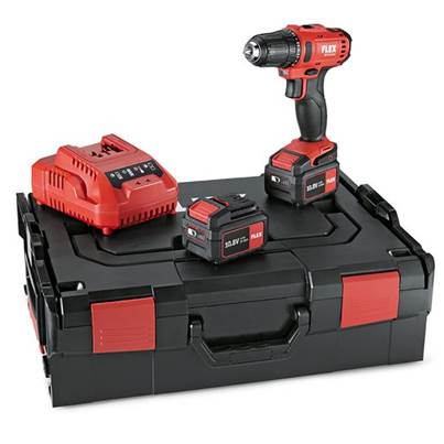 FLEX DD 2G 10.8-LD/4.0 Set 2-speed cordless drill driver 10.8V 2 x 4.0Ah Batteries